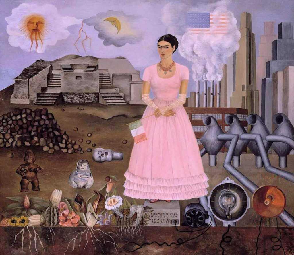 Frida Kahlo - Autorretrato en la frontera entre México y EE.UU, 1932