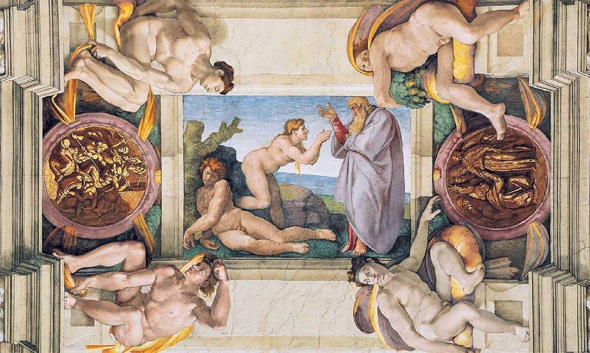 Michelangelo Creación de Eva