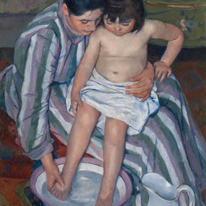 Cassatt - El baño del niño